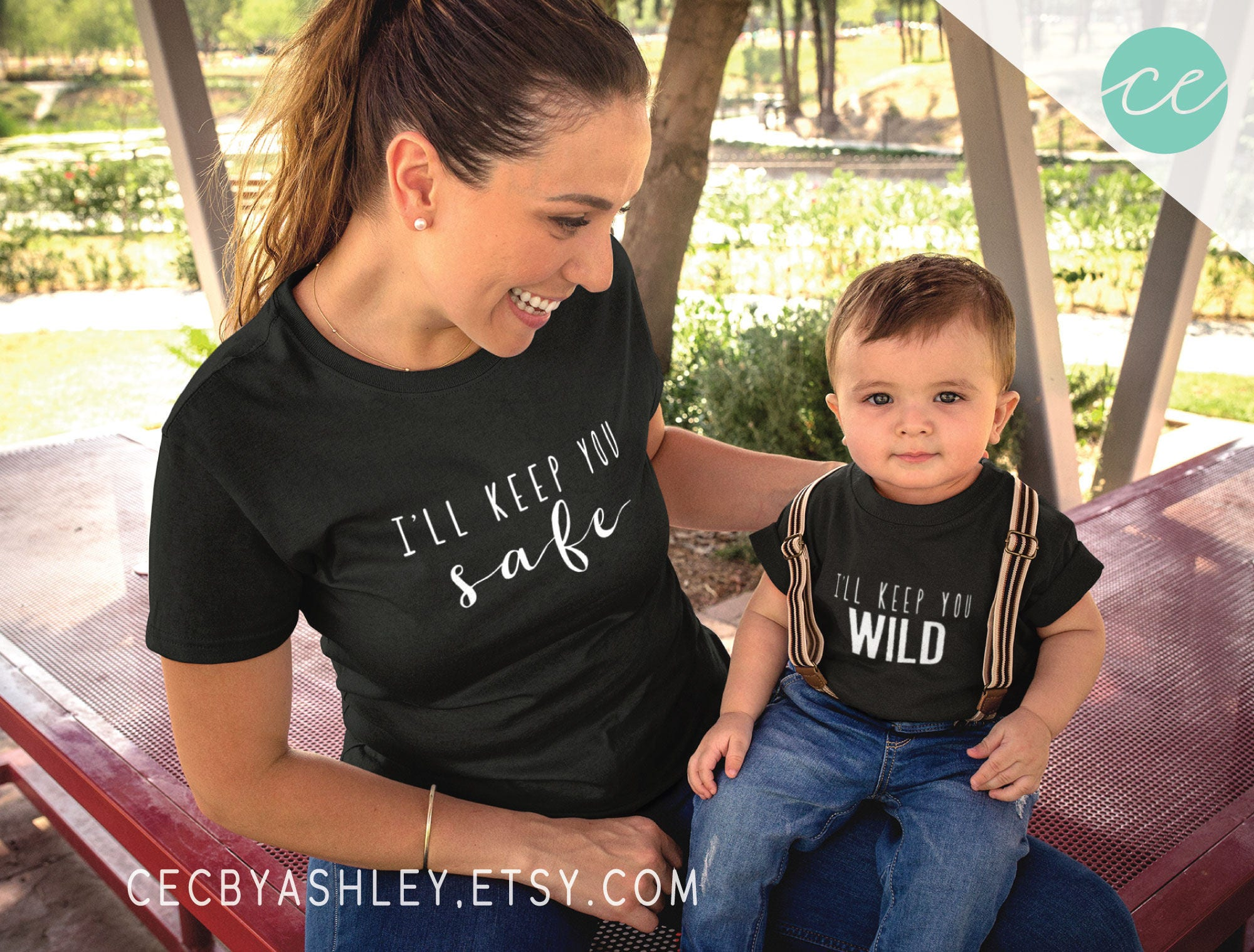 mommy and me mom and son shirt set of 2 shirts matching