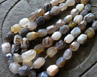 Unique Botswana Faceted Agate Nugget Beads,Wholesale Big Randomly Striped Chunky Agate Beads 20x15mm