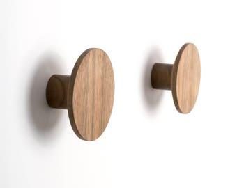 Walnut Wall Hooks – Perfect for Hanging Coats, Bags, Hats etc.