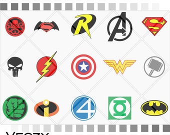 Super Hero svg, Bundle svg, Wonder Woman,Batman, Captain America,Avengers, svg file,svg files for cricut, silouhette, instant download,
