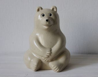 Polar bear piggy bank