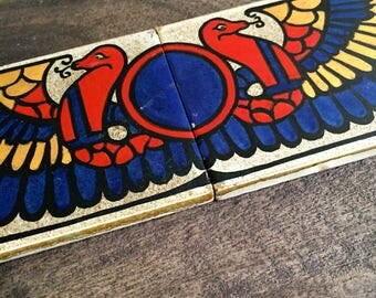 Antique Egyptian Revival Boote Tile from England