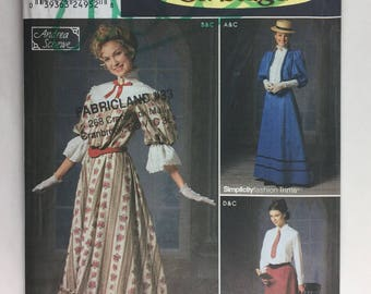 Simplicty 9723 Misses' Costumes on Stage Victorian Dress, Petticoat, Jacket & Skirt Pattern Sizes 6,8,10,12 Incut
