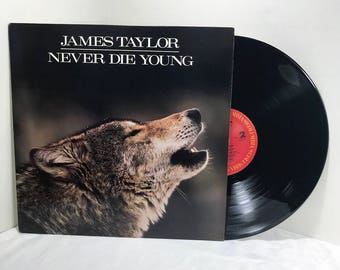 James Taylor Never Die Young vinyl record 1988 Soft Rock EX