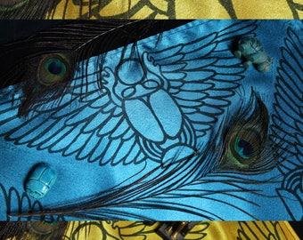 Winged Scarab Altar Cloth: Khepri Beetle God, Double Sided Altar Cloth, Ancient Egyptian Altar, Egyptian Mythology, Pagan Altar, Egypt Kemet