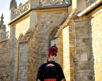 "Dress ""Elvira"" gothic, goth, bat, lace"
