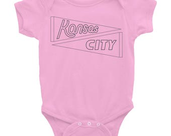 Kansas City Onesie - KC Baby Clothes - Kansas City Hybrid Bodysuit - Landlocked - A Kansas City Company