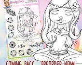"""Clear Stamp Set """"Mindfulness"""" Chakra, Yoga - perfect to use in your Planners, Happymail, Cardmaking, Pocketletters etc."""