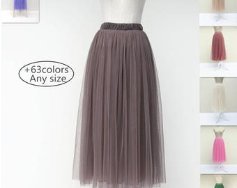 Summer women tulle skirt dress, adult tulle skirt women's tutu