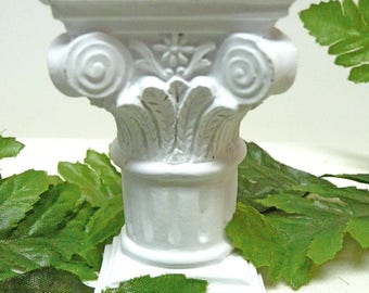 Column Pedestal, Miniature Fairy Pillar, Miniature Pillar, Dollhouse Pedestal, Small White Pillar, Use Inside or Outside