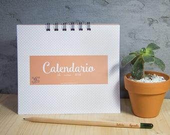 Monthly calendar Board 2018