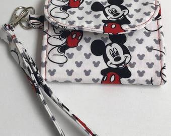 Mickey Mouse Tri-fold Wrist Wallet