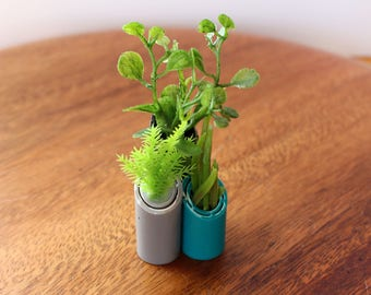 Turquoise Triad Vase - Miniature Modern decor for 1/12 or 1/6 scale