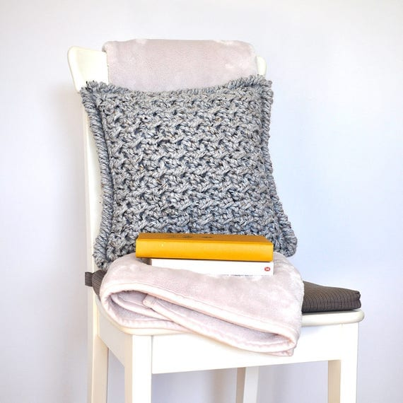 The Marshmallow • Cushion • Crochet Chunky Knit • Colour: EARL GREY