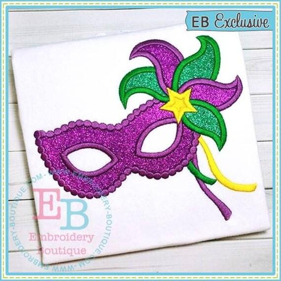 Mardi Gras Masquerade Mask Applique, Mardi Gras Shirt, Gown or Bodysuit, Mardi Gras Mask Shirt, Mask Applique, Girls Mardi Gras Shirt,