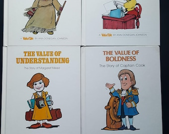 1970s/1980s Value Tale Books (set of 4)-Adventure/Fairness/Understanding/Boldnes