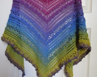 Ombre shawl, Crochet ombre shawl,