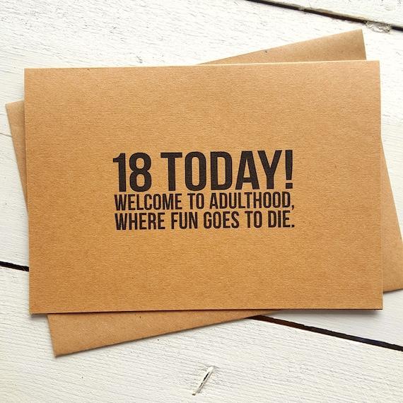 18th Birthday Card Funny Birthday Card Card For Friend