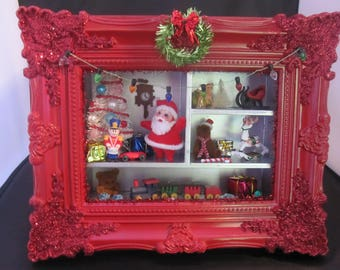 Christmas Diorama, Christmas Shadowbox