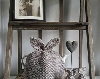 Knitted egg cosy etsy beginners pdf easy knitting pattern knit a bunny tea cosy and egg cosy easter negle Image collections