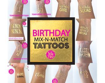Birthday tattoos, birthday tattoo, dirty thirty, cheers to 30, talk thirty to me, finally 21, twenty one, 21, 30, 30th birthday decorations