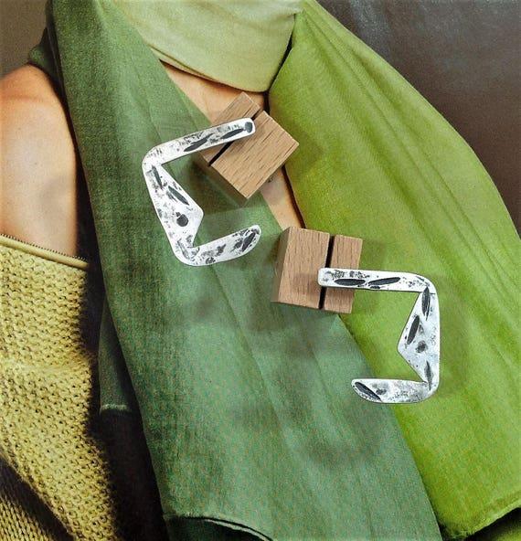 Eclectic Unique Cool Earrings | Large Oxidized Earrings, Industrial Earrings | Sterling Silver Earrings | Handmade Earrings | Contemporary