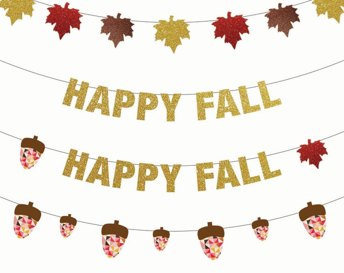 Happy Fall Banner, Thanksgiving Banner, Thanksgiving Decorations, Banner, Turkey Day, Fall Decorations