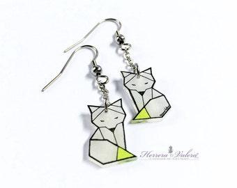 "Earrings ""Zorro, the fox"" silver 925"