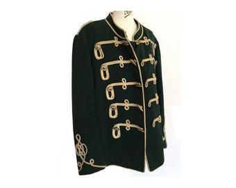 très ancienne authentique steampunk militaire laine Veste / / français veste en laine militaire manteau //army vert / / hommes