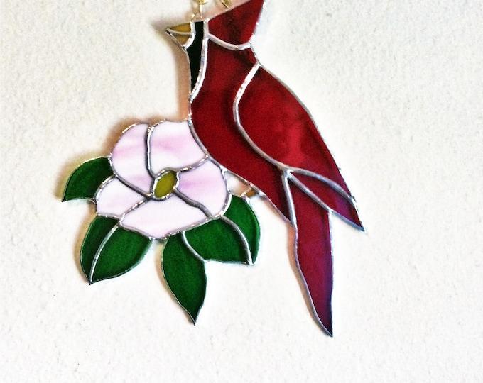Cardinal Suncatcher, Cardinal Bird, Cardinal Art, Christmas Cardinal, Red Cardinal, Suncatcher, Stained glass art, Best selling items, gifts