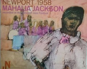 Mahalia Jackson, Newport 1958, Vintage Record Album, Vinyl LP, Classic Blues, Gospel, Soul Music, Live Recording,