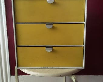 Palaset three drawer cube yellow white made in Finland