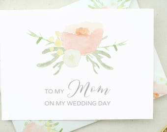 Mother of the Bride Card. Father Wedding Day Card. To My Father Card. Mother Wedding Day Card. From the Bride Card Mom Wedding Day Card DO07