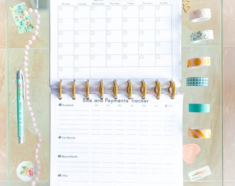 Happy Planner Budget Bills Tracker Inserts Daily Expenses Tracker Pages Financial Planner Budget Printable Made to Fit Erin Condren Planner