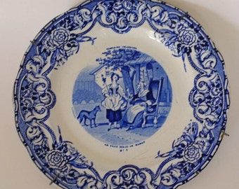 antique plate collection plate, French, French country, Christmas gift