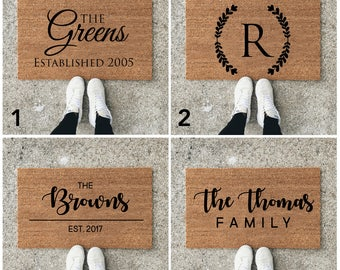 Custom Welcome Mat - Personalize Door Mat - Custom Doormat - Customized Doormat - Housewarming Gift