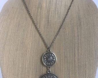 Double Pendant Necklace