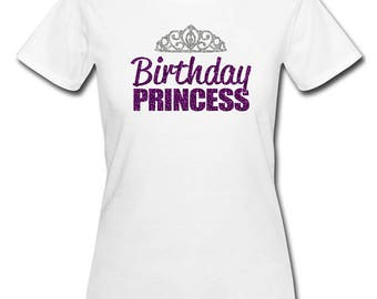 Birthday Princess Shirt - Personalize the Colors - Beautiful Glitter - Birthday Girl Shirt - Princess Party Shirt