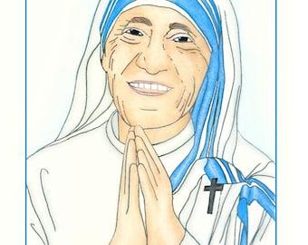Printable: Saint Teresa of Kolkata Coloring Book
