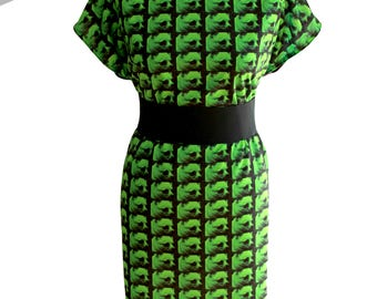 Your photo on a dress - tiled image  (Handmade & custom printed fabric!)