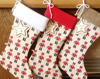 Christmas Stockings, Nutcracker Christmas Stocking, Personalised Christmas Stocking, Luxury Christmas Stocking *FREE NAME TAG*