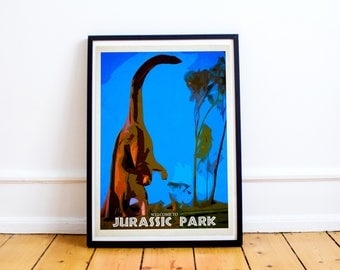 Jurassic Park - Brachiosaurus - Welcome To Jurassic Park (Available In Many Sizes)