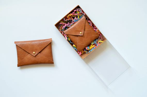 Vegan leather envelope wallet gifts for her square business like this item reheart