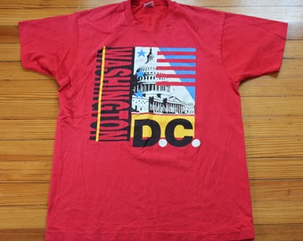 Men's Vintage WASHINGTON D.C. T-Shirt Size XL Fruit of the Loom