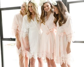 Lace Bridal Robe // Bridesmaid Robes // Robe // Embroidered Bridal Robe // Bride Robe // Bridal Party Robes // Bridesmaid Gift // Allure