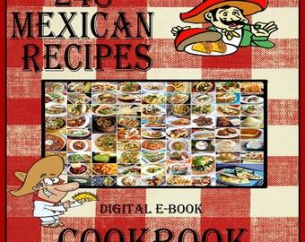 248 Delicious Mexican Food Recipes E-Book Cookbook Digital Download