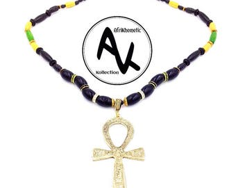 Jamaican Pride Ankh Necklace