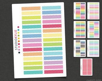 Polka Dot Border Planner Stickers - Repositionable Matte Vinyl