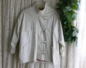 Vintage COTTON CANVAS JACKET Ladies Size 18/20 xl xxl 1x 2x, Soft 100 Percent Cotton Fully Lined Ranch Campus Cottage Country Hippie Boho
