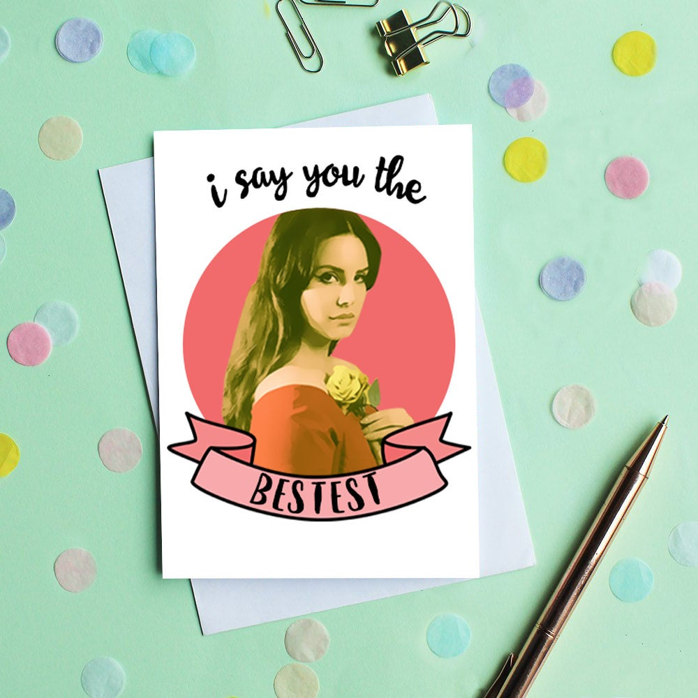 Lana del rey birthday card birthday card for her birthday card lana del rey birthday card birthday card for her birthday card best friend bookmarktalkfo Image collections